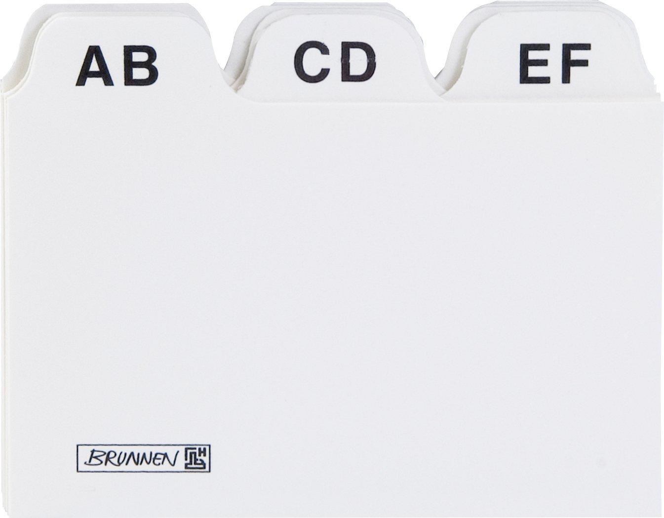 Baier & Schneider - Divisori alfabetici in cartone, formato A8, colore: bianco 1023718