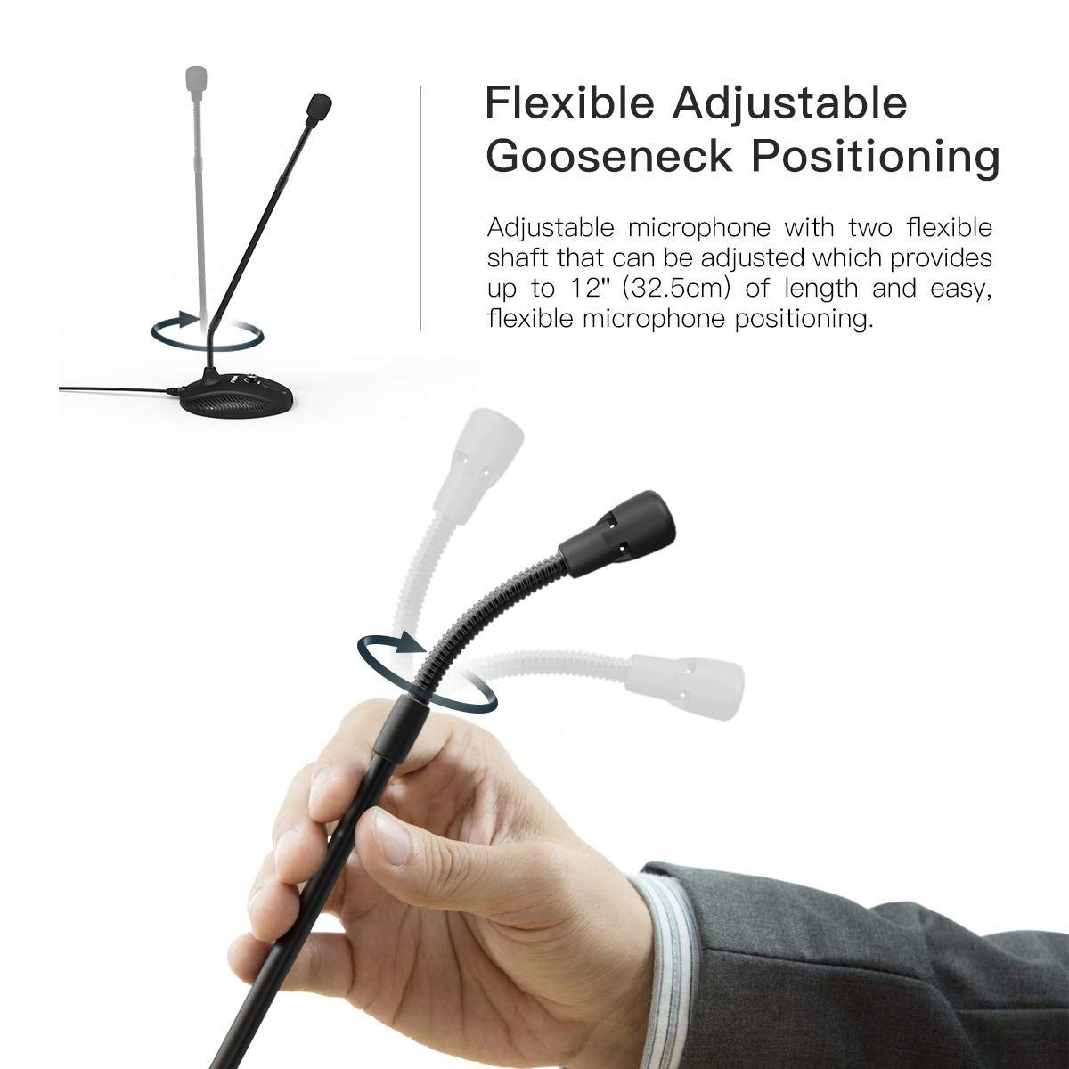 Computer Microphone,FIFINE Desktop Gooseneck Microphone,Mute Button with LED Indicator,USB Microphone for Windows/Mac.Ideal for Gaming Streaming YouTube Podcast.(K052) by FIFINE TECHNOLOGY (Image #2)