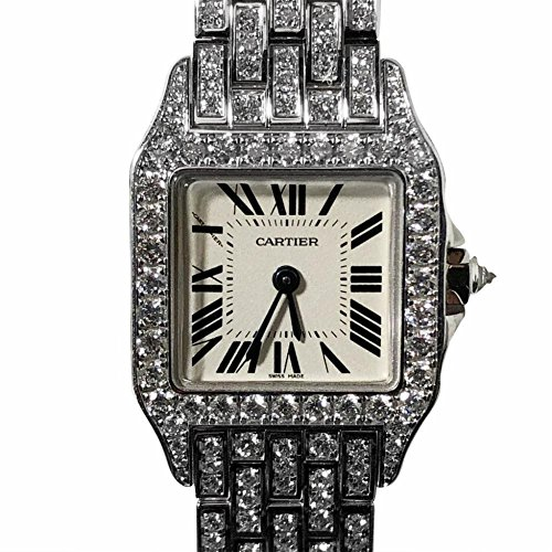 Cartier Santos Demoiselle analog-quartz womens Watch WF9003Y (Certified Pre-owned)