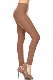 74eb5d8b7f020 Leggings Depot Premium Quality Jeggings Regular and Plus Soft Cotton Blend  Stretch Jean Leggings Pants w
