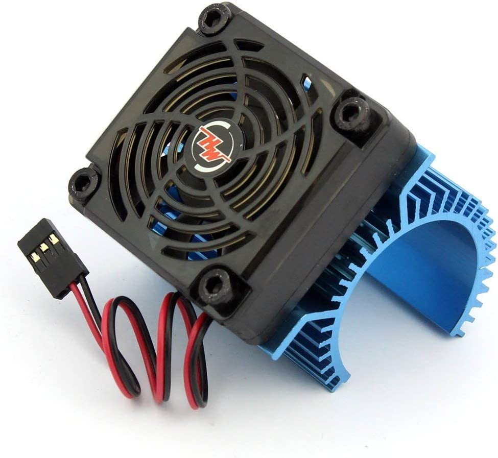 Xiangtat EZRUN Motor Combo C1 Motor Heat Sink Cooling Fan + 5V Fan 2S for 3660 3665 3674 1/8 RC Car Brushless Motor