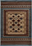 Rizzy Home BV3712 Bellevue Power-Loomed Area Rug, 3-Feet 3-Inch by 5-Feet 3-Inch, Southwest, Blue
