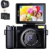 Digital Camera Camcorder, Weton Full HD 1080P 24.0MP Video Camera 3.0 Inch Flip Screen Vlogging Camera Camcorder with Retract