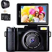Digital Camera Camcorder, Weton Full HD 1080P 24.0MP Video Camera 3.0 Inch Flip Screen Vlogging Camera Camcorder with…