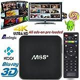 J-DEAL® KODI Fully loaded M8S+ M8S Plus TV Box Amlogic S812 Quad Core 4K Streaming Media Player TV Box H.265 Airplay Miracast 3D Blu-ray 4K Stream Smart HTPC 2G/8G
