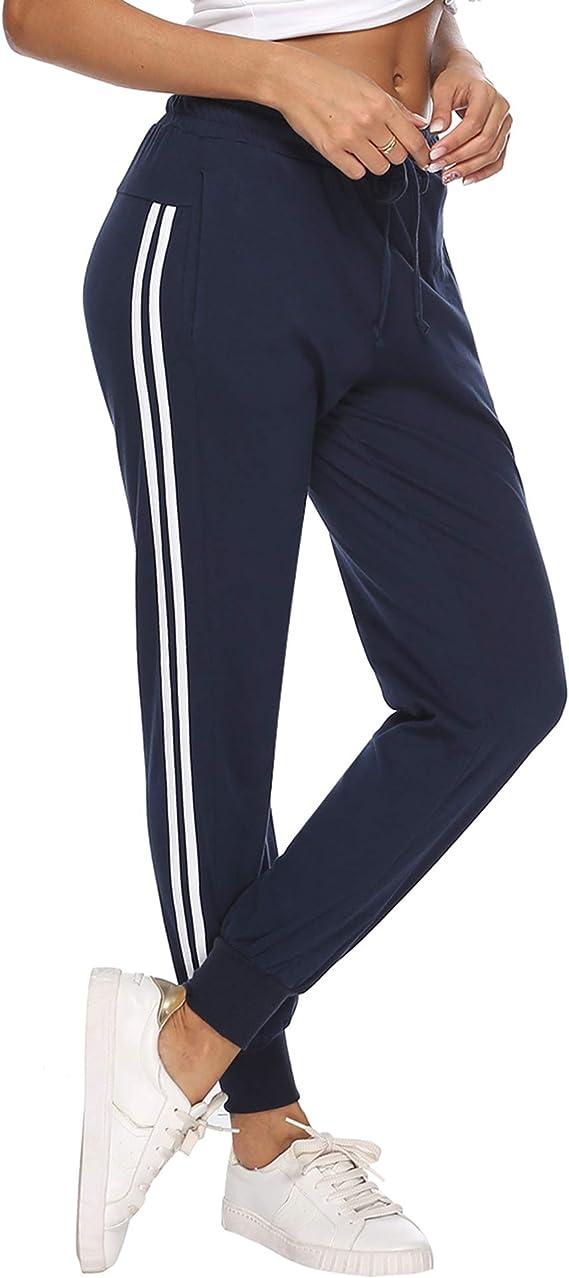 Hawiton Pantalon Chandal Mujer Largos Pantalones de Deporte Yoga ...