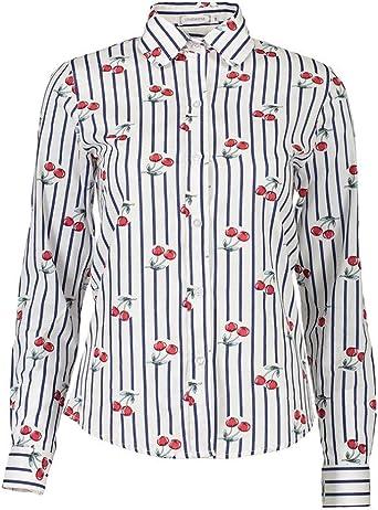 Mujer Tops Verano Elegante Tul Camisas Fashion Vintage Casuales Hipster Blusas Outdoor Confortable Manga Larga Stand Cuello Perspectiva Estilo Moderno Slim Fit Shirt Camisetas: Amazon.es: Ropa y accesorios
