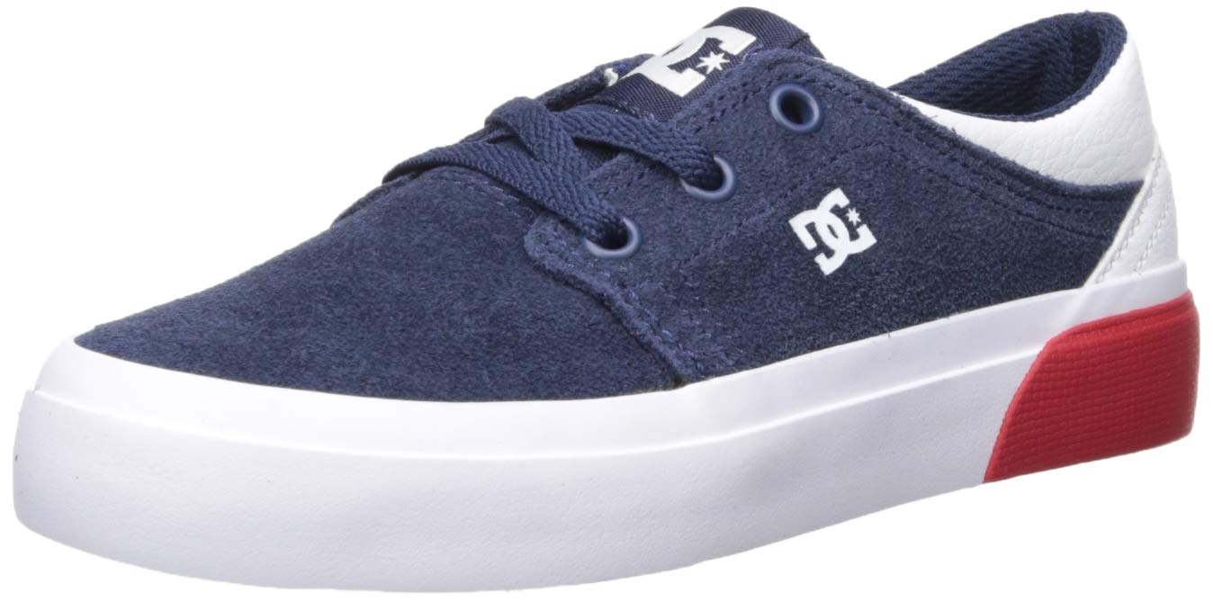 DC Boys' Trase Skate Shoe, DC NAVY/WHITE, 5.5 M M US Big Kid