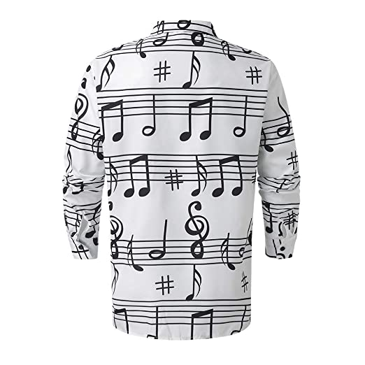 Luckycat Hombre Camisa Manga Larga Slim Fit Hombre Camisas Steampunk Blancas y Negras Camisa de Manga Larga Slim Fit con Cuello Abotonado con Cuello Abotonado Camisas: Amazon.es: Ropa y accesorios
