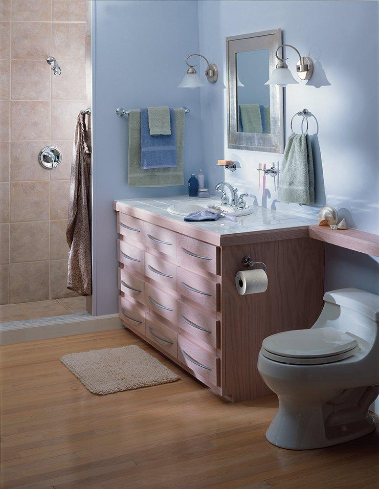 Moen DN8486CH Preston Bathroom Towel Ring, Chrome   Chrome Towel Bar    Amazon.com
