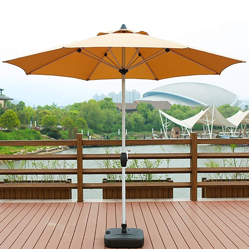 ガーデンパラソル 8リブ付き2.7メートル屋外傘、ポリエステルアルミ合金ポール防水外傘、キャンプ用、スイミングプール B07ST4LW81 Khaki