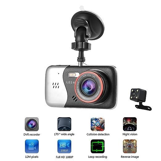 7 opinioni per Dual Dash Cam, OCDAY Telecamera per Auto Full HD 1080P, Obiettivo Grandangolare