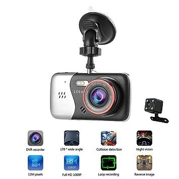 Cámara Dual Dash Cam Ocday, cámara para coche Full HD 1.080
