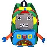 Kids Backpack Kindergarten Cartoon Schoolbag for Boys Girls Robot Backpack Blue