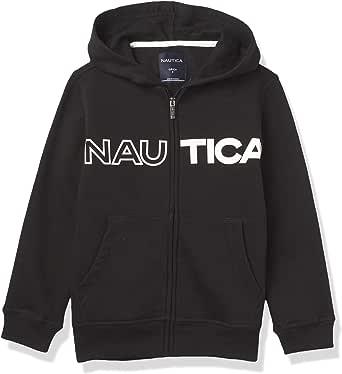 NAUTICA Boys' Sueded Fleece Logo Full Zip Hoodie, F20 Chest