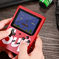 Amisha Gift gallery SUP Handheld Game Console, Classic Retro Video Gaming Player Colorful LCD Screen USB Rechargeable Portable Game Console with 400 in 1 Classic Old Games Best Toy birthday Gift for Kids Boys and Girls kid