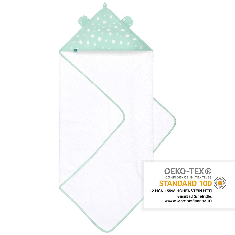100/% Bio-Baumwolle Extra Saugf/ähig Premium Baby Handtuch mit Kapuze 100x100cm Gro/ß Kapuzenbadetuch Flauschig Weich Langlebig Wolke von emma /& noah OEKO-TEX Zertifiziert Frottee