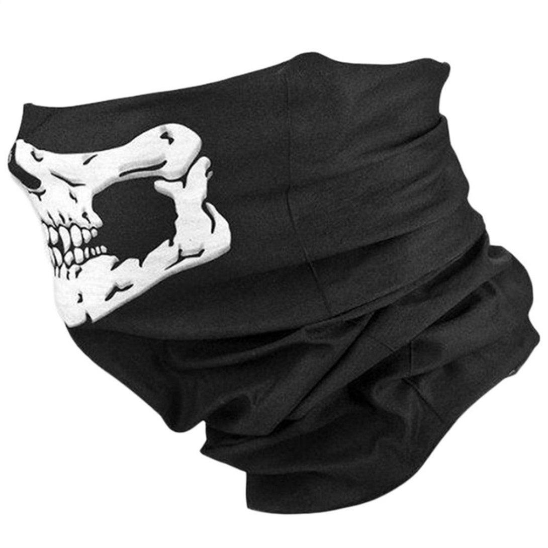 Swiftswan Skull Balaclava Traditional Face Protective Head Cover Mask Gator Black NWT