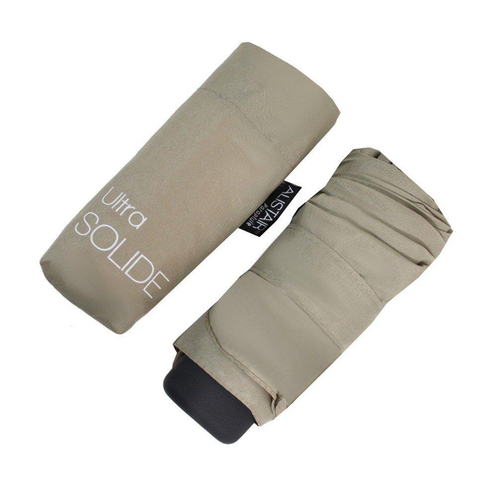 Alistair Umbrella - Compact - Ultra Resistente - Apertura / Cierre Manual - Castaño