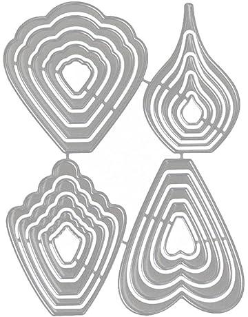 ONEVER Troqueles de Corte Forma de Mariposa Tarjetas Decorativas Bordes Metal Plantilla para Tarjeta de Felicitación