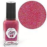 Lynnderella Limited Edition Christmas Advent Nail Polish Rose Holographic Nanoglitter—December 11-Holiday Cupcake