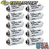 10pc Exell A24PX 3V Alkaline Battery V24PX RPX24 532 PX24 EPX24 2LR50