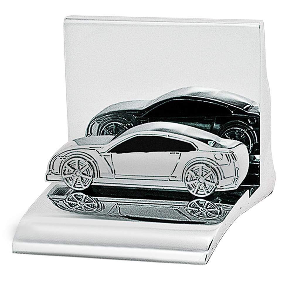 Design Gifts Chrome Business Card Holder - Car