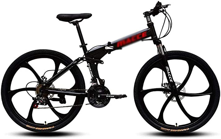 26in Adults Carbon Steel Mountain Bike Full Suspension MTB 21 Speed Bicycle