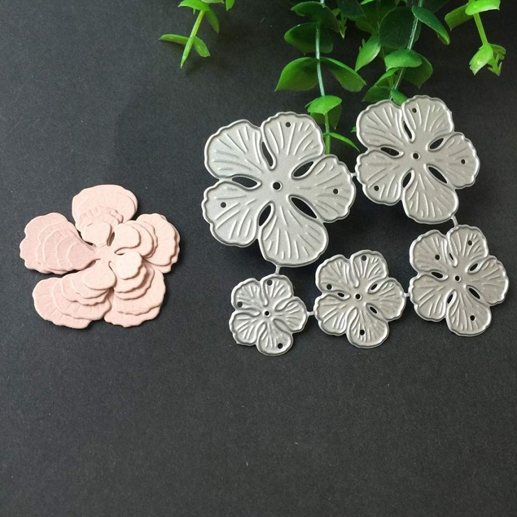 sellos de papel /álbumes de recortes Five Petals decoraci/ón de tarjetas troqueles de repujado Troqueles de corte de metal