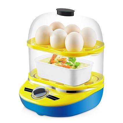 Caldera De Huevos Eléctrica Doble Nivel Vaporera De Alimentos Multifunción Con Capacidad De 12 Huevos Con