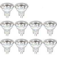 WOWOSS 10 Stks 20 Watt Halogeen Spotlight Lamp MR11 Halogeen Gloeilampen 2 Pins GU4 Warm Wit 2700 K Dimbare Precisie…