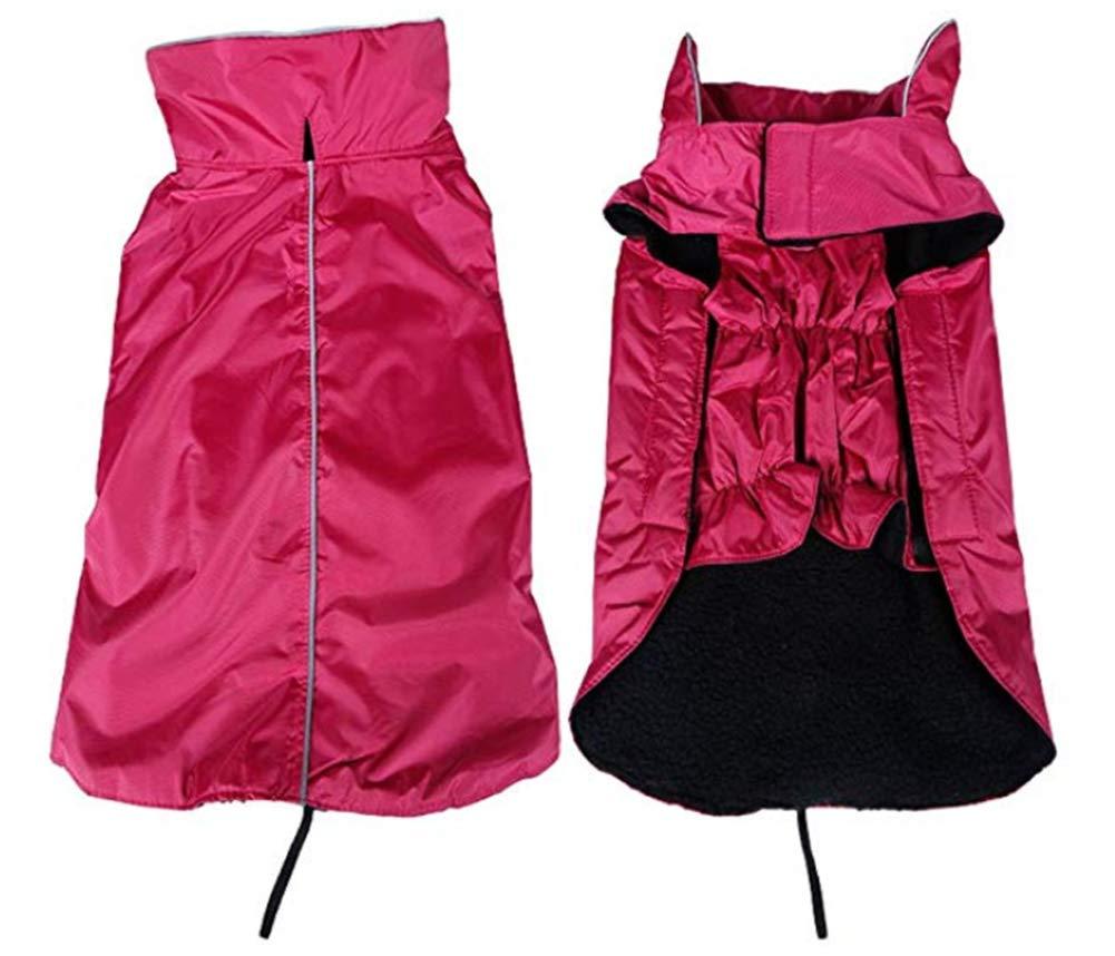 Red X-Large Red X-Large Morezi Dog Jacket,Waterproof Fleece Lined Reflective Jacket Dog Loft Jacket Dog Climate Changer Fleece Jacket Red XL