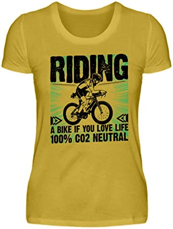 Riding a Bike if You Love Life - Camiseta de manga corta para mujer: Amazon.es: Ropa y accesorios