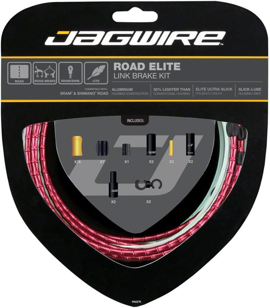 Ultra-Slick Uncoated Gold Jagwire Road Elite Link Shift Cable Kit SRAM//Shimano
