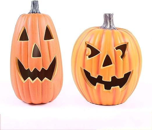 HOBBMS Cubo de calabaza que brilla intensamente de Halloween ...