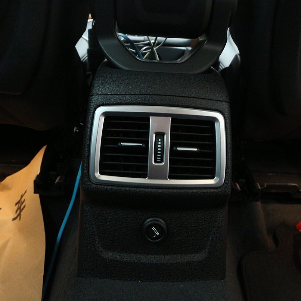 Diyucar Für Den Neuen X1 F48 20i 25i 25le 2016 2019 Abs Matt Abs Chrom Hintere Klimaanlage Auslass Rahmen Abdeckung Verkleidung Auto