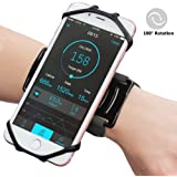Sports Forearm Armband,TRONOE Running Armband Workout Forearm Wristband Phone Holder 180° Rotatable for iPhone 7/7 Plus/6S, Galaxy S8/S8 Plus/S7 Edge for Jogging Cycling Hiking (Black)