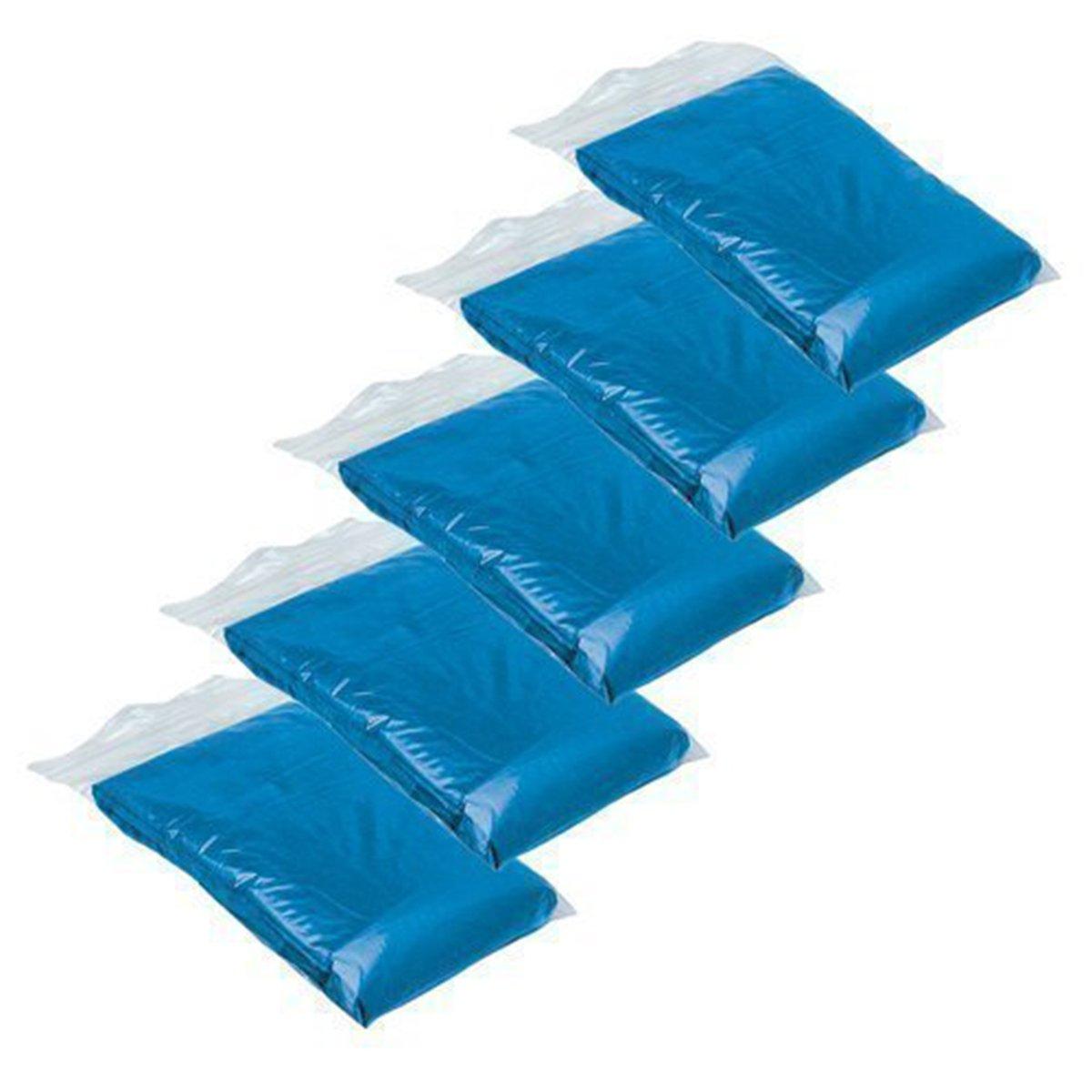 LEORX 5pcs Impermeables desechables para viajes al aire libre (azul)