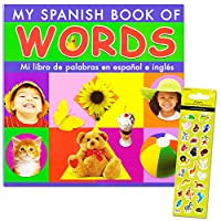 Spanish Words Board Book Kids Toddler -- Over 150 Words with Reward Stickers ...