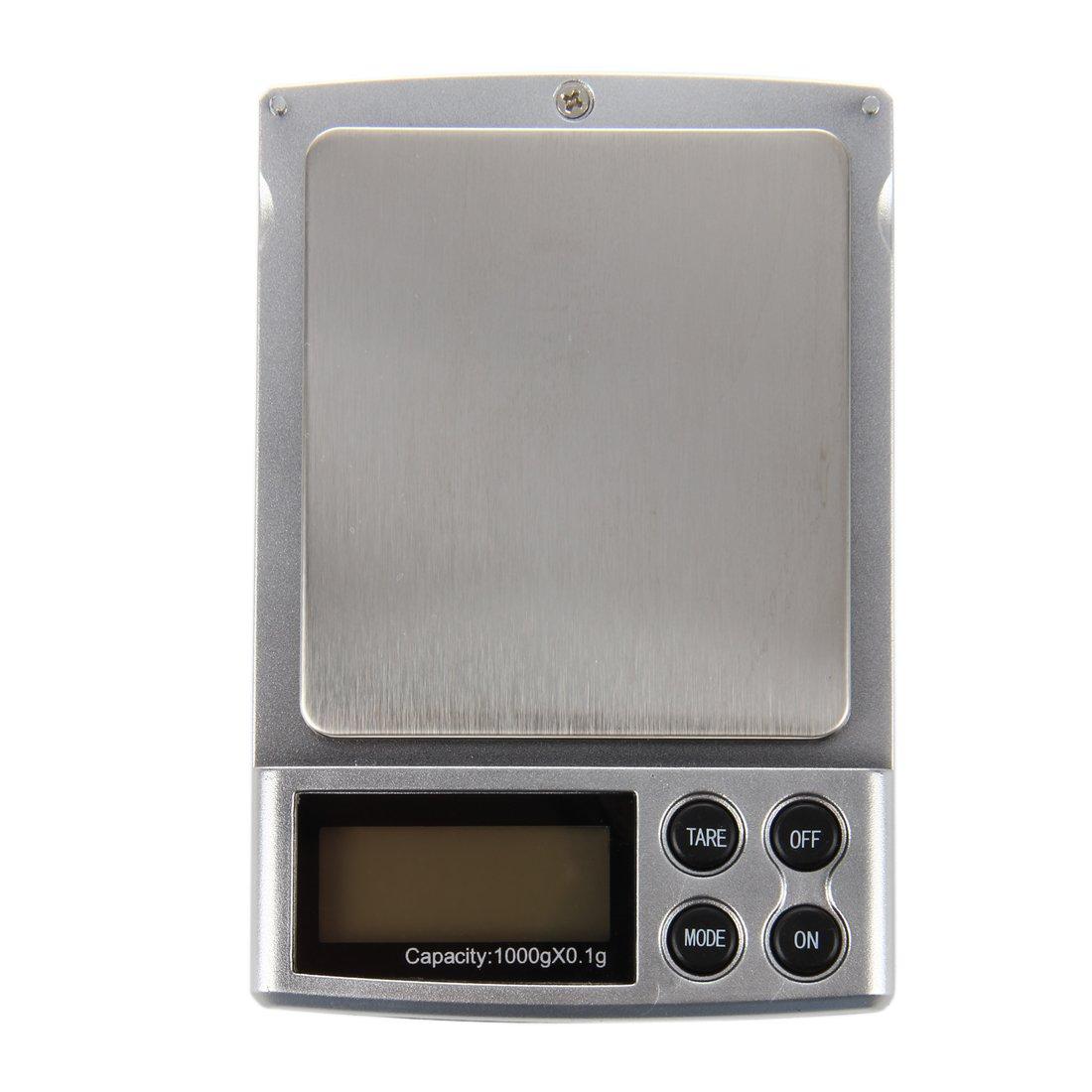 REFURBISHHOUSE 0.1-1000grams 0.1-1kg Mini Cocina Oficina Joyeria Electronica Digital Balanza Pesaje Bolso Escala