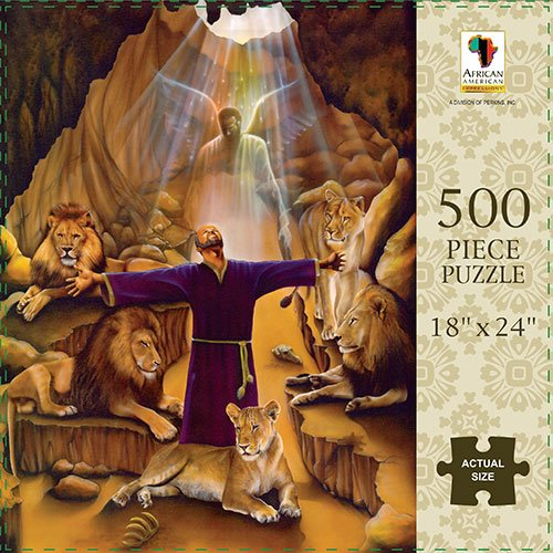 Search : African American Expressions: Daniel (in the lions' den) 500pc Jigsaw Puzzle