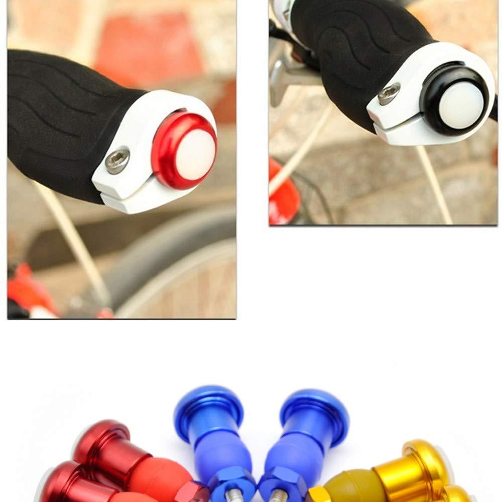 Luces de se/ñal de giro de bicicleta Intermitentes para Bicicleta,Indicador de Direcci/ón,F/ácil de instalar 1 par Tapones Manillar con Luz Luz de manija para bicicleta Luz de ciclismo super brillante