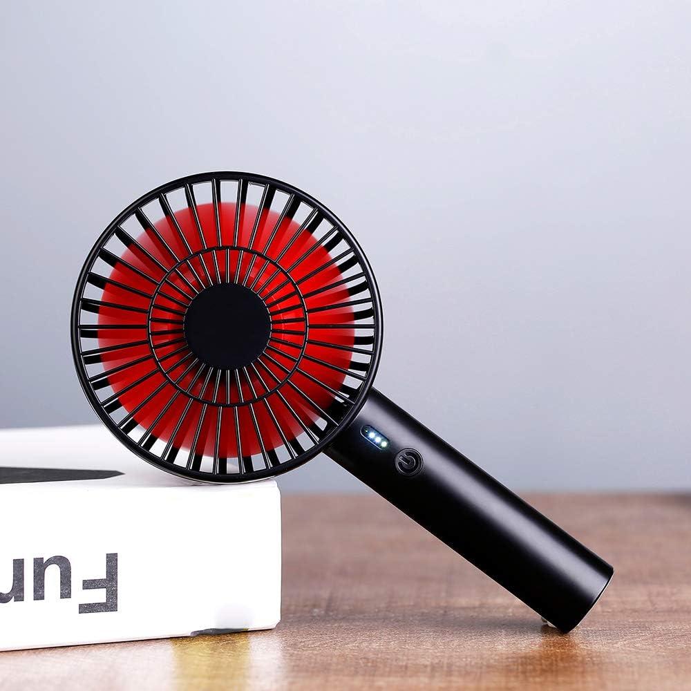 Mini Fan Portable Mini Fan Desktop Fan Small Microphone Battery Display USB Charging 3-Speed Silent Handheld Fan