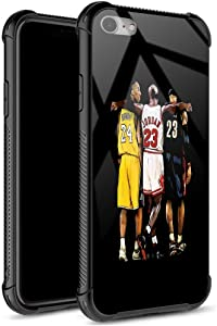 iPhone 6S Plus Case,USA Basketball Star033 Pattern Tempered Glass iPhone 6 Plus Case for Girls Men Boy [Anti-Scratch] Fashion Cover Case for iPhone 6/6S Plus