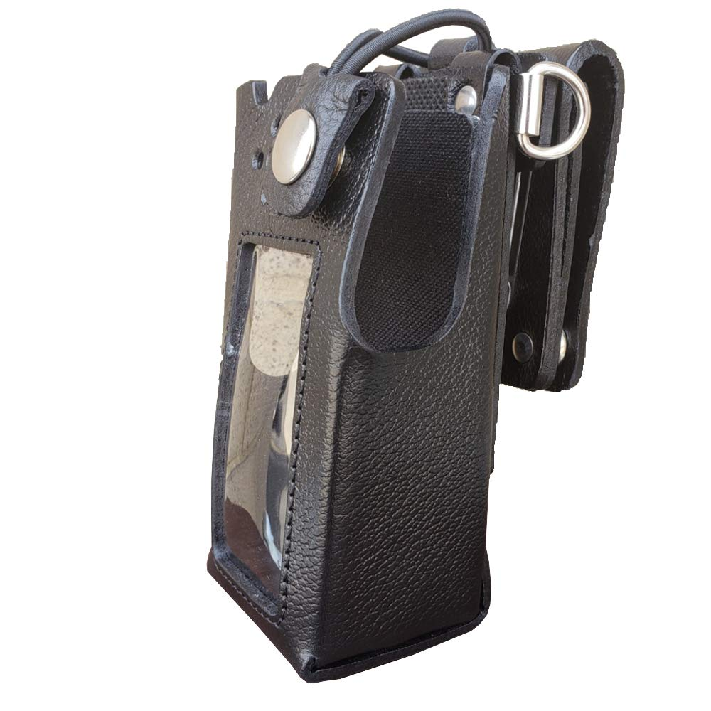Case Guys MR8590-3BWD Hard Leather Swivel Belt Loop Holster Case with Bungee Cord for Motorola APX 4000 Two Way Radios