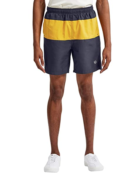 ab6089960d734 Fred Perry Men's Panelled Swim Shorts S3501 608 Navy: Amazon.ca: Clothing &  Accessories