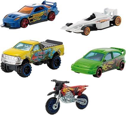 Hot Wheels Mattel W2638 Pack de 5 vehículos: Amazon.es: Juguetes y ...