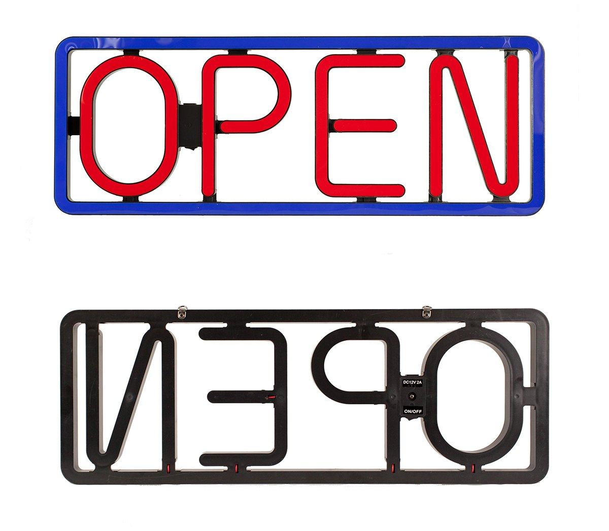 Led open signs neon styles large letter display vivid bright color big rectangular for shop store bar cafe restaurant beer salon business97 led amazon