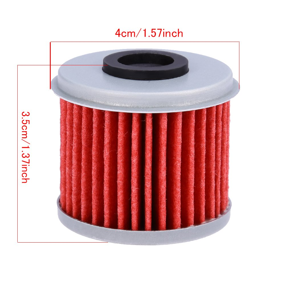 Oil Filter For ATV Honda TRX450R CRF250X CRF450X CRF250R CRF450R (Pack of 10) by QUIOSS (Image #3)