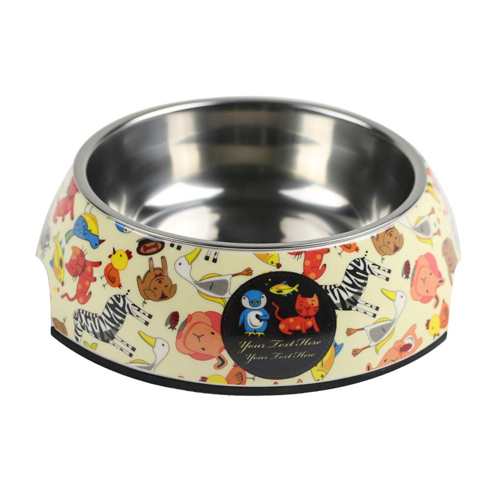 S Practical Dog Bowl Cat Bowl Simple Fashion Pet Supplies Personalized Pet Drinking Water Bowl (Size   S)